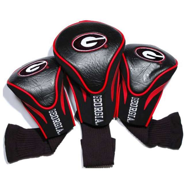 21194 Team Golf 153315 NCAA Georgia Bulldogs Logo Contour Club Head Covers, 3 Pack