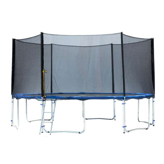 6180-T14COMBO ExacMe 14-Foot Trampoline w/ Safety Pad, Enclosure Net, & Ladder