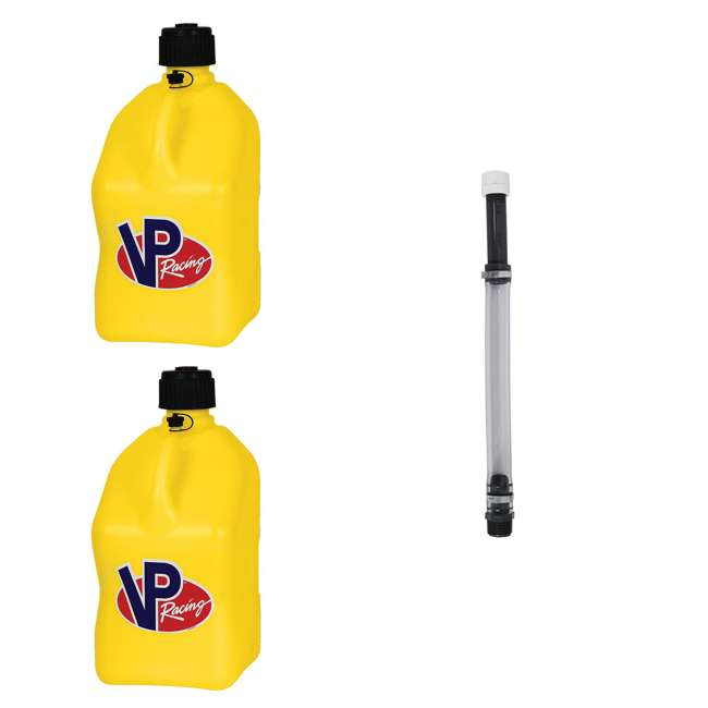 3552 + 3044B VP Racing 5 Gallon Motorsport Racing Utility Jug (2 Pack) + 14 Inch Hose Kit