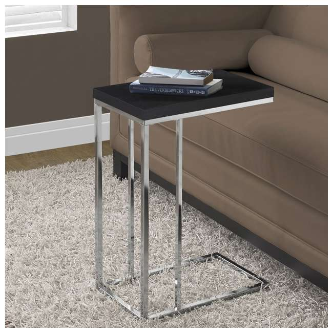 VM-3007 Monarch Specialties Contemporary Accent Side End Table, Cappuccino (2 Pack) 2