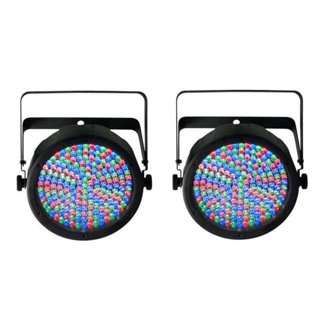 Slim-Par64 Chauvet SlimPar 64 LED DMX Slim Par Can Stage Pro DJ RGB Lighting Effects (Pair)