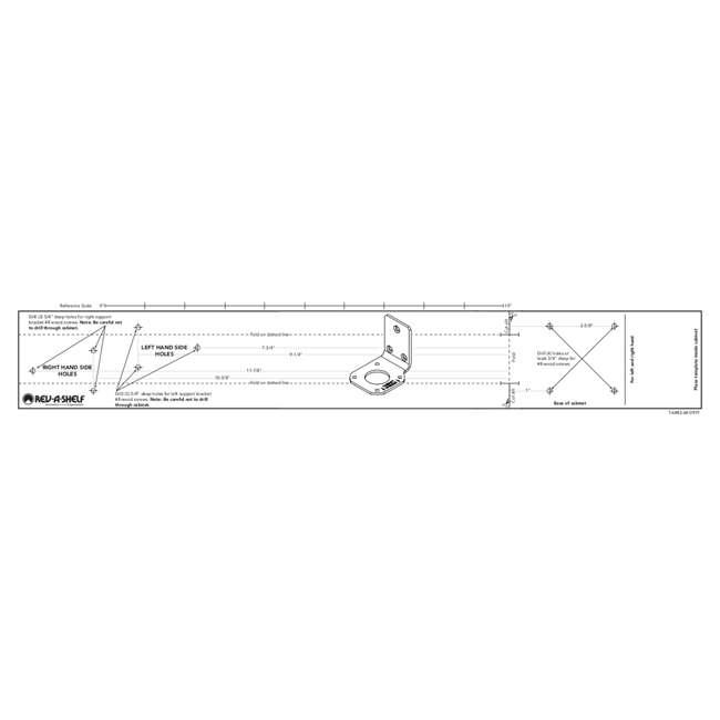 4WLS882-35-570 Rev-A-Shelf 4WLS882-35-570 35 Inch Wooden Cabinet 2 Shelf Lazy Susan, Half Moon 6