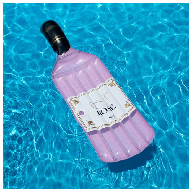 SL-90654 Swimline Inflatable Rose Wine Bottle Float 1