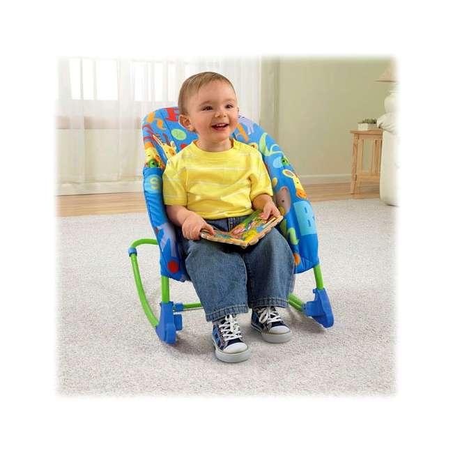 T4257 Fisher-Price Deluxe Animal Alphabet Infant-to-Toddler Rocker 4