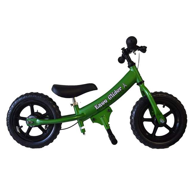 EG12-G Glide Bikes Ezee Glider Unisex Sleek Kids Adjustable Mini Balance Bike, Green