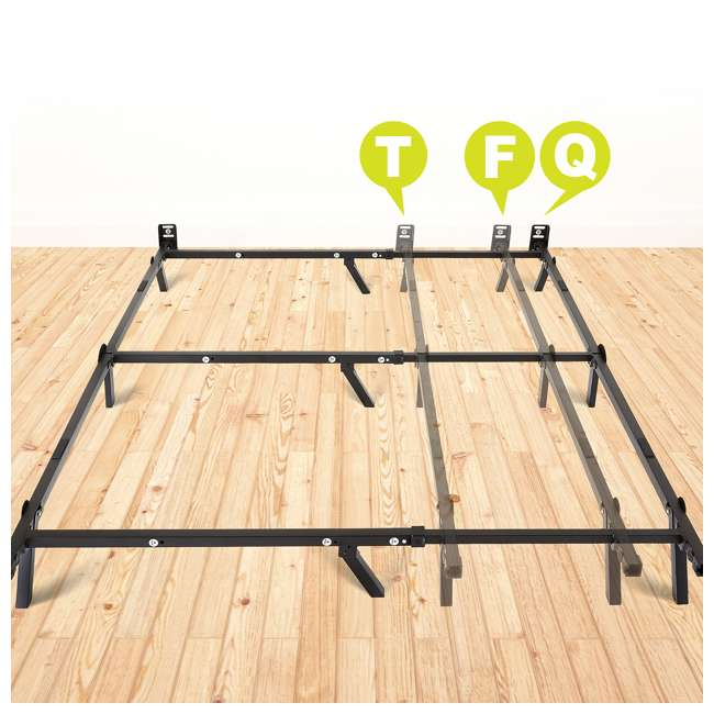 VMI-C900-M2-U-C intelliBASE Adjustable Twin Full Queen Box Spring Metal Bed Frame (For Parts) 6