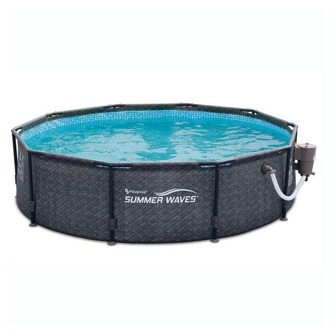Summer Waves 10 X 30 Above Ground Pool Set With Pump Dark Wicker