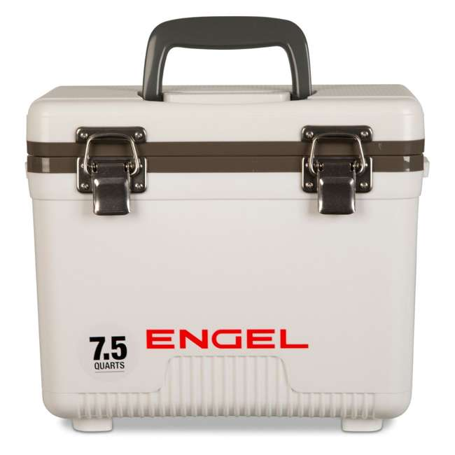UC7 Engel 7.5-Quart EVA Gasket Seal Ice and DryBox Cooler with Carry Handles, White
