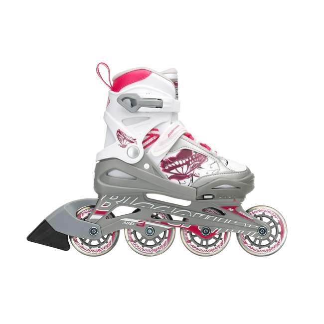 0T817200T1C-S Rollerblade Bladerunner Phoenix Girls Adjustable Skate, Size 1-4