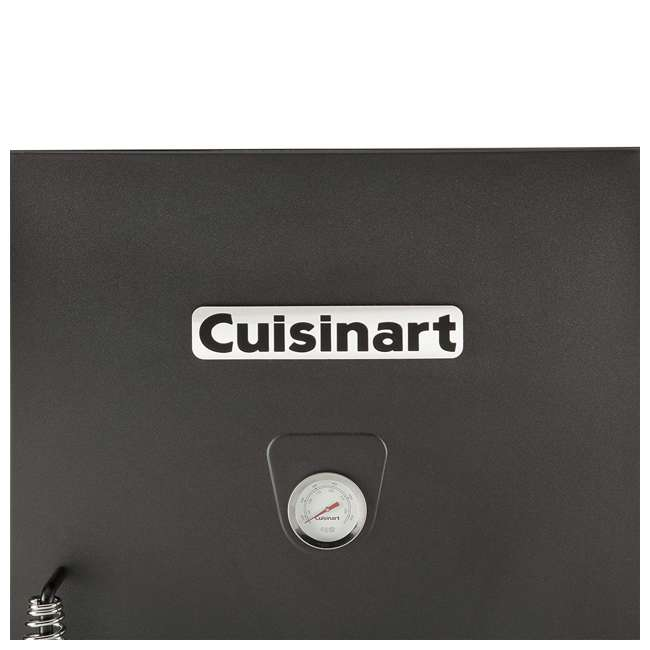 COS-330 Cuisinart 30 Inch 1500 Watt Portable Electric Smoker Grill w/ 2 Handles, Black 3