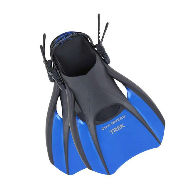 240825-US U.S. Divers Trek Size Large Diving & Swimming Fins, Blue