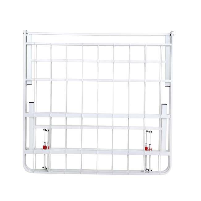 VMI-18QIB2-112-WT-U-A intelliBASE Bi-Fold Platform White Metal Bed Frame, Queen  4