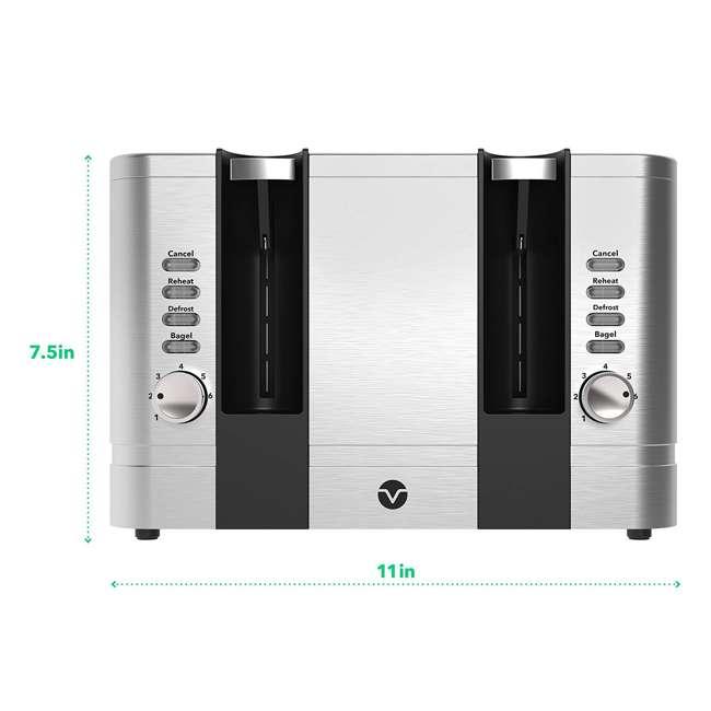 VRM010108N Vremi VRM010108N Retro Stainless Steel Countertop Wide Slot 4 Slice Toaster 1