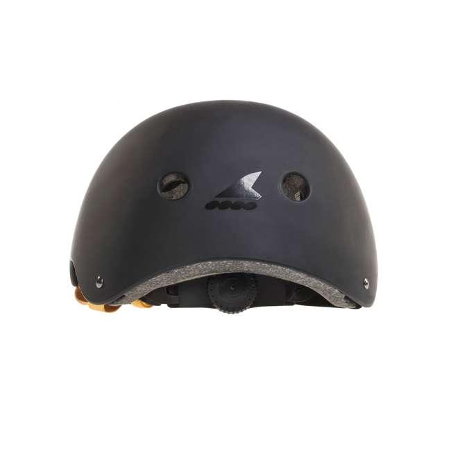 067H0310800-L Rollerblade USA Downtown Style Skate Helmet, Black 3