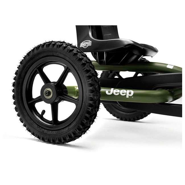24.21.34.01 BERG Toys Jeep Junior Pedal Powered Adjustable Kid Go-Kart, Green 3