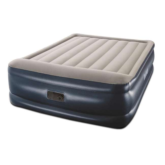 67631E-BW-U-B Bestway Tritech Inflatable 18 In Air Mattress w/ Built In AC Pump, Queen (Used) 1