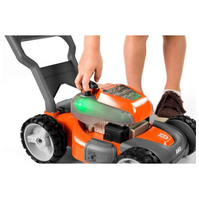 HV-WB-961480062 + HV-TOY-589289601 Husqvarna Walk Behind Mower Electric Start Gas Powered Toy Lawn Mower for Kids 9