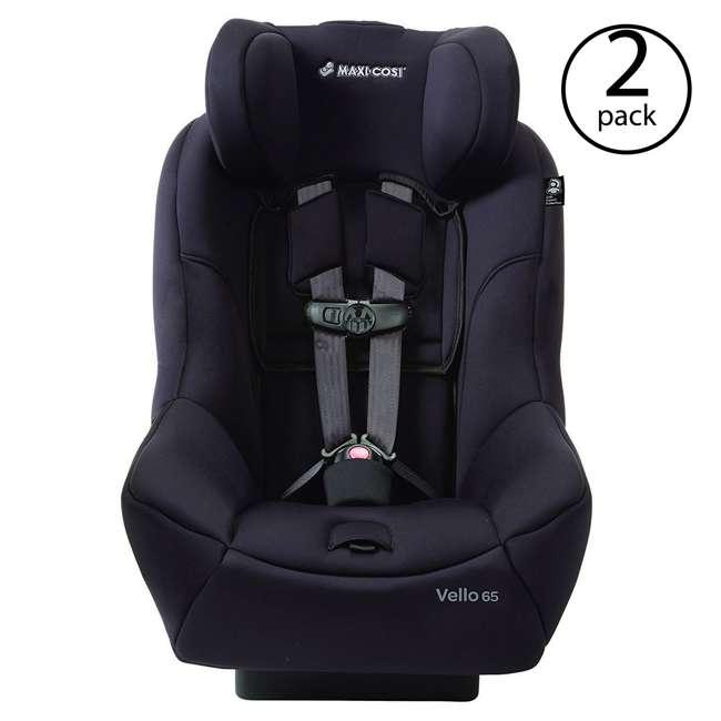 CC135CZV Maxi-Cosi Vello 65 Toddler Convertible Car Seat, Black (2 Pack)