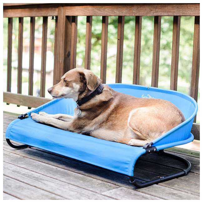 G3336TB Gen7Pets G3336TB Trailblazer Cool-Air Mesh Waterproof Cot Bed for Dogs, Blue 3