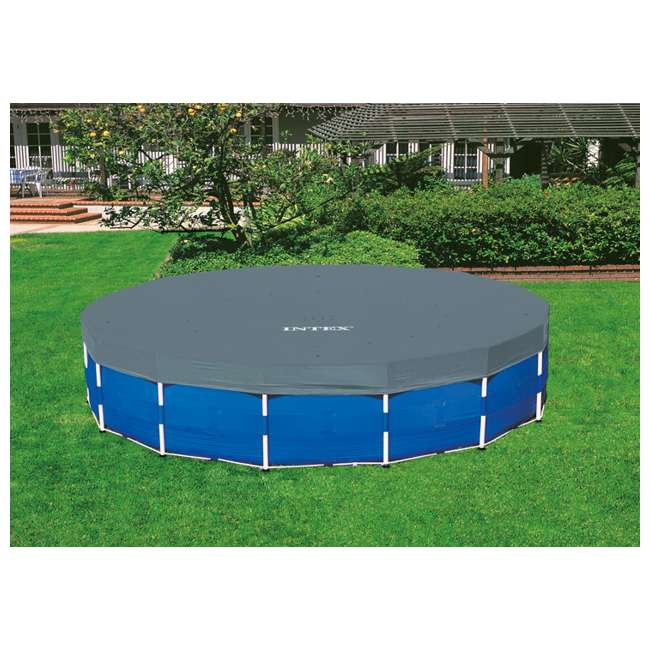 "28253EH-U-A Intex 18'x48"" Above Ground Pool Set w/ Pump Ladder Cover (Open Box) (2 Pack) 3"