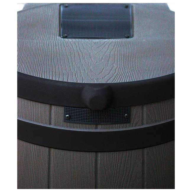 RW50-DR-OAK Good Ideas Rain Wizard Rain Collection Rain Barrel 50-Gallon Darkened Ribs, Oak 4