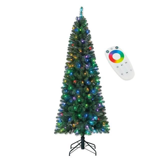 TG70CH119P00 Home Heritage 7' Color Blast Multiple Light Function Micro Dot LED Christmas Tree