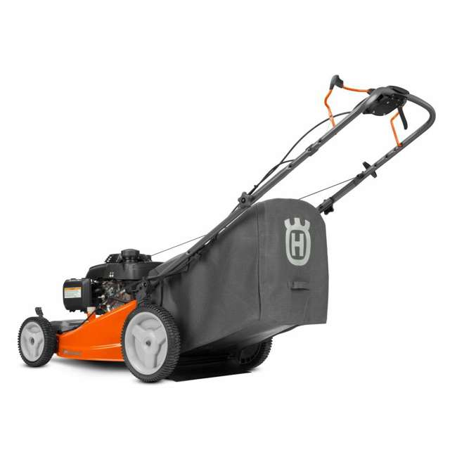 HV-WB-961450036 + HV-TOY-589289601 Husqvarna Walk Behind 21 Inch Self Propelled Gas Mower + Kids Toy Lawn Mower 2