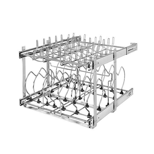 5CW2-2122-CR-U-A Rev-A-Shelf  Series 21in 2 Tier Wire Organizer for Cookware  (Open Box) (2 Pack)
