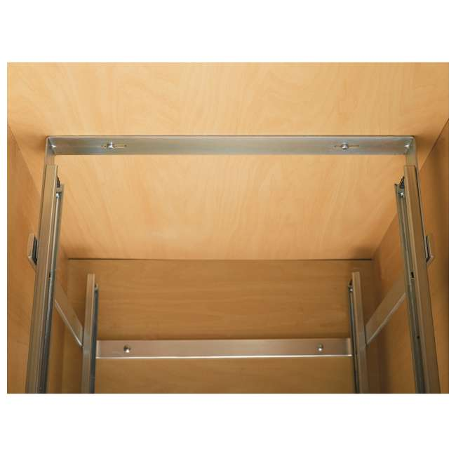 """5WB2-1522-CR Rev-A-Shelf 15"""" Wide 22"""" Deep Base Kitchen Cabinet 2 Tier Pull Out Wire Basket (2 Pack) 4"""