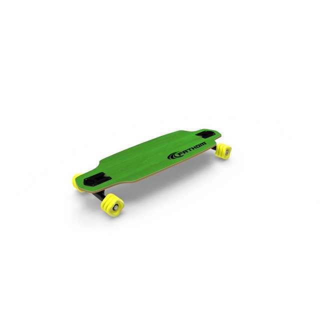 08194-SHARK Fathom by Shark Wheel Roam Mini Drop Longboard Complete, Green 9