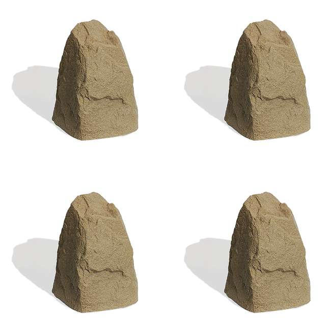 4 x ALG-231 Algreen Rock Cover Decorative Garden Accent, Sandstone (4 Pack)