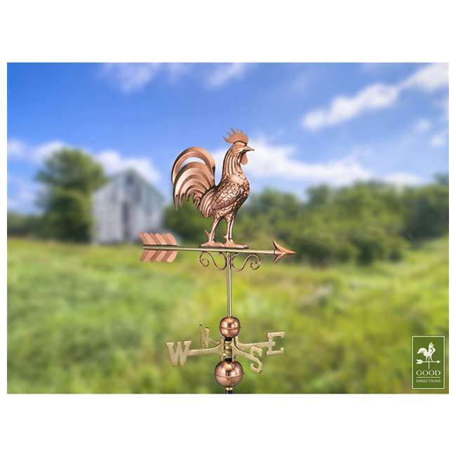 1975P Good Directions 22 Gauge Pure Copper Bantam Rooster Weathervane, Copper 3