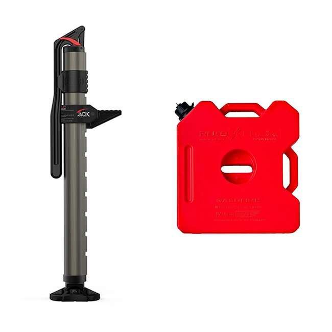 """1060001 + RX-3G ARB 4409 Pound 6"""" to 48"""" Hydraulic Jack & 3 Gallon EPA Safe Gasoline Container"""