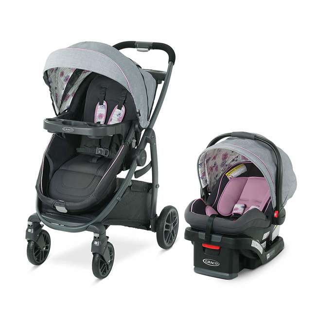 2083434 Graco Modes Bassinet Baby Stroller & Infant Car Seat Travel System, Carlee Pink