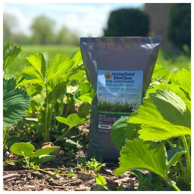 WFBCSC-1LB + WFHERO-CMP-1LB Wakefield 1 lb Biochar Organic Soil Conditioner and 1.5 lb Organic Compost 2