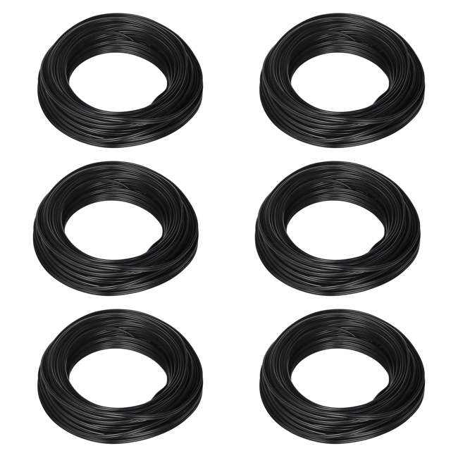 6 x 55213143 Southwire 100-Foot 10-Amp Outdoor Lighting Cable, Black (6 Pack)