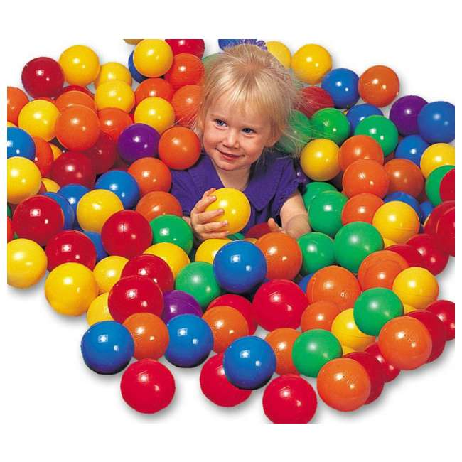 48259EP + 49600EP Intex Inflatable Jump-O-Lene Ball Pit Castle Bouncer with 100 Play Balls 3