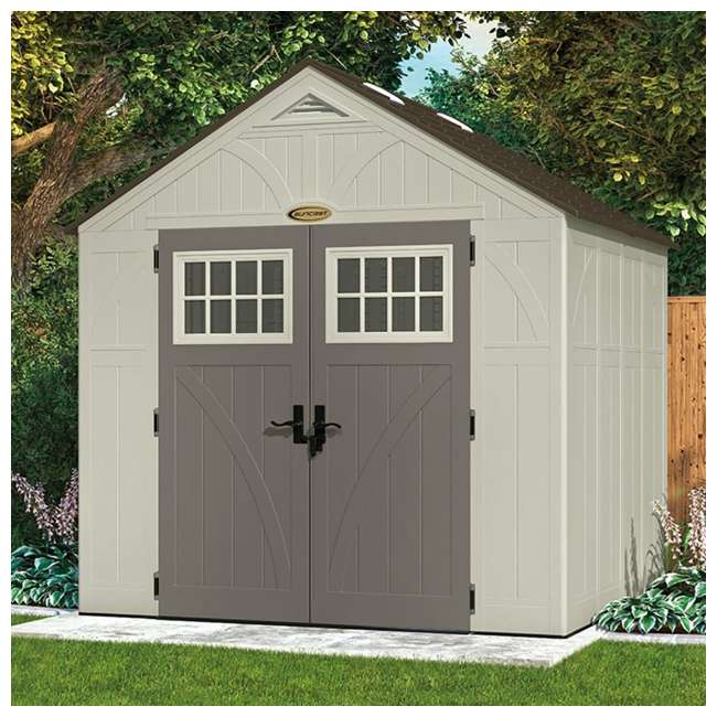 BMS8700 Suncast  8' x 7' Outdoor Patio and Garden Storage Shed 3