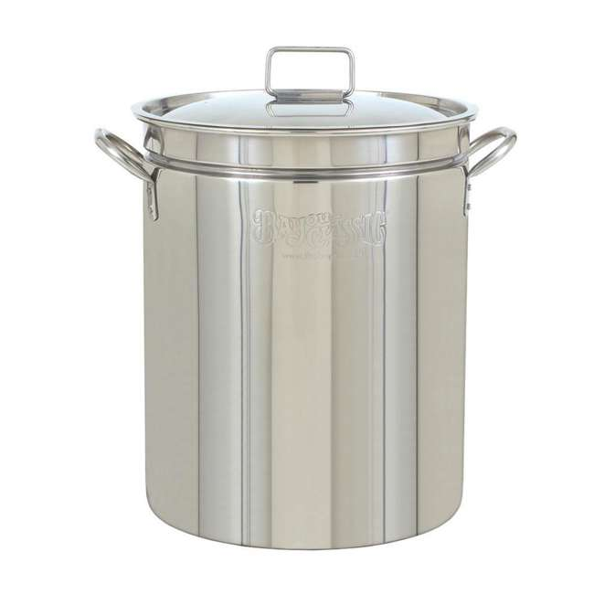 1024 Bayou Classic 24 Quart Stainless Steel Boil Fry Steam Cook Soup Stockpot w/ Lid