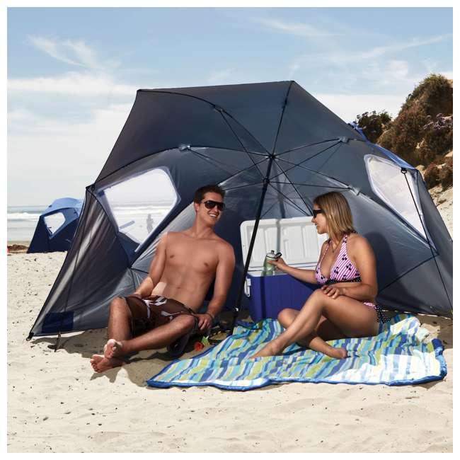 BRE01-SUP-075-2 Sport-Brella Super-Brella 8-Foot Portable Sun Shelter Weather Umbrella, Blue  3