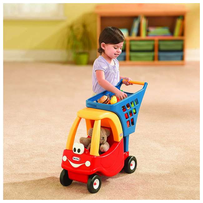 618338M Little Tikes Cozy Coupe Kids Grocery Shopping Cart, Red (2 Pack) 3