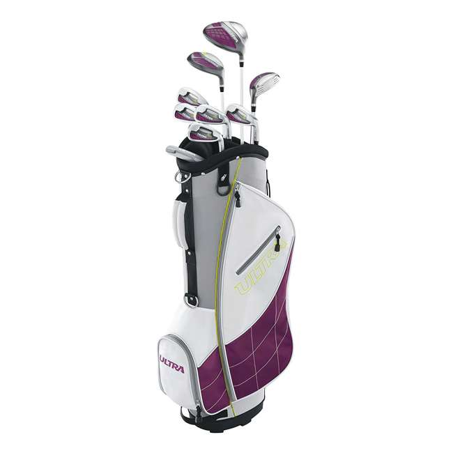 WGGC43400 + WGWP40800 Wilson Ultra Ladies Right-Handed Super Long Golf Club Bag Set & Balls 1