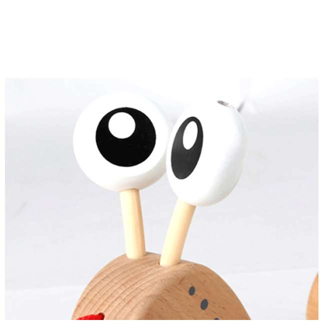 HAP-E0349 Hape Walk-A-Long Snail Wooden Push and Pull Toy 3