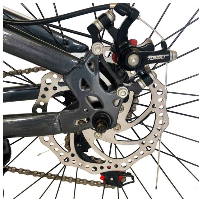 "MTB011-GRY NextGen 26"" 21 Speed Shimano Foldable Hardtail Downhill Mountain Bike, Gray 4"