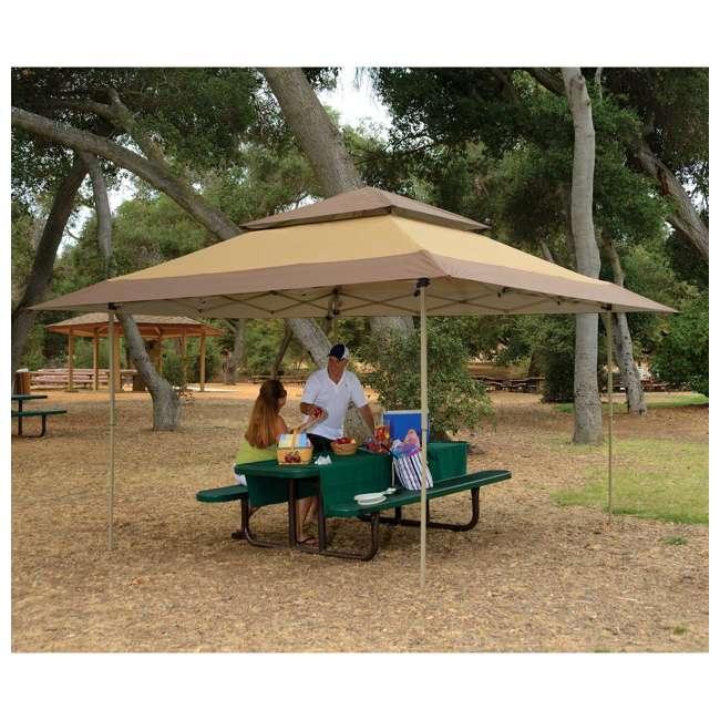 ZSB13GAZTB-U-A Z-Shade 13 x 13 Instant Canopy Outdoor Shelter Tan Brown (Open Box) (2 Pack) 2
