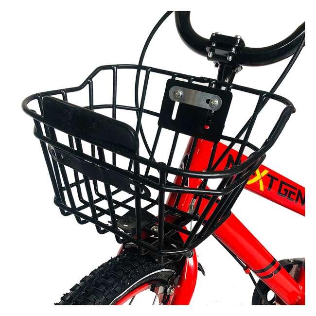 16BK-R NextGen 16 Inch Childrens Kids Bike Bicycle with Training Wheels & Basket, Red 2