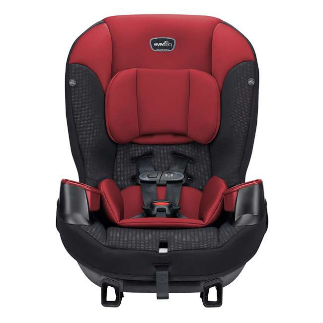 34812023 Evenflo Sonus 2 in 1 Convertible Travel Infant Baby Toddler Car Seat, Rocco Red 1