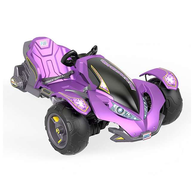 FLC34  Power Wheels Kids Electric Mini ATV Boomerang Ride-On , Purple 1
