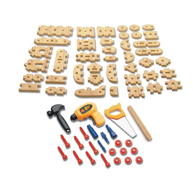 762700-U-A Step2 Pretend Play Toy Wood Working Tools Real Projects Workbench (Open Box) 2