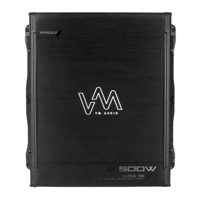 VM-SRA500.2 + VM-SRPK8R + VM-SRCAP4.5 VM Audio SRA500.2 500W 2 Channel Amplifier with 8 Gauge Wiring Kit and 4.5 Farad Capacitor 1